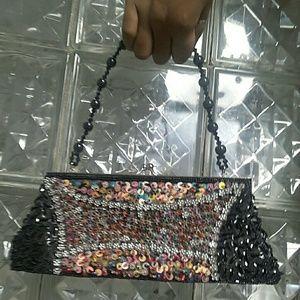 Handbags - Vintage handbeaded and sequined clasp purse